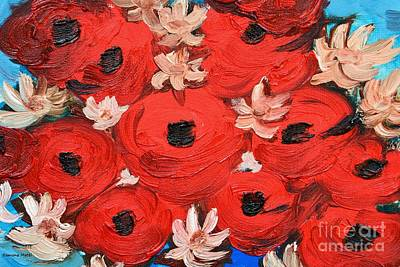 Painting - My Sweet Red Poppies by Ramona Matei