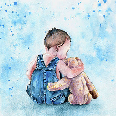 My Teddy And Me Art Print by Miki De Goodaboom
