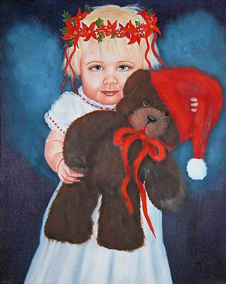 Painting - My Teddy Bear by Joni McPherson