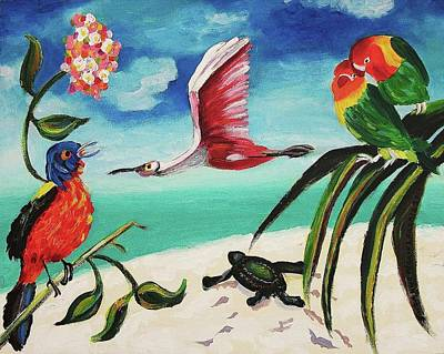 My Texas Song Bird Art Print