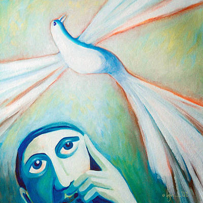 Painting - My Thoughts Of Peace Extend Far Beyond Me by Angela Treat Lyon