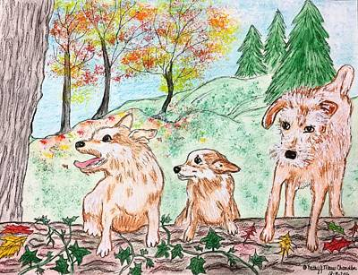 Painting - My Three Buddies by Kathy Marrs Chandler
