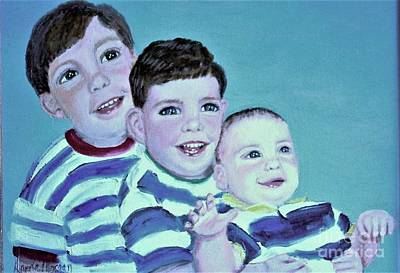 Painting - My Three Sons by Laurie Morgan