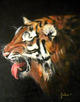 Painting - My Tiger - The Year Of The Tiger by Jordana Sands
