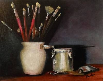 Painting - My Tools by Anne Barberi