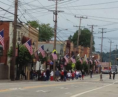 Memorial Day Mixed Media - My Town Usa Parade by Deb Sagan