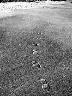 Photograph - My Trail To Playalinda Beach In Black And White  by Chris Mercer