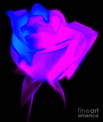 Abstract Rose Digital Art - My True Love by Krissy Katsimbras