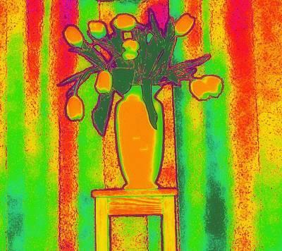 Photograph - My Tulips by Jodie Marie Anne Richardson Traugott          aka jm-ART