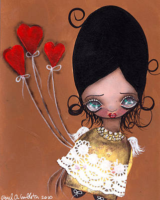 My Valentine Art Print by  Abril Andrade Griffith