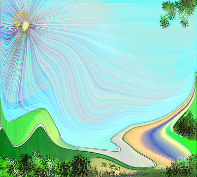 Digital Art - My Valley Home by Iris Gelbart