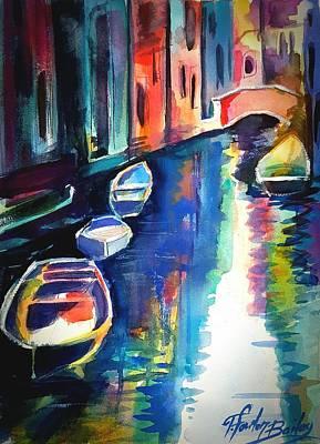 My Venetian Memory Art Print by Therese Fowler-Bailey