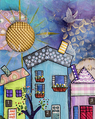 My Village 2 Art Print by Wendy Provins