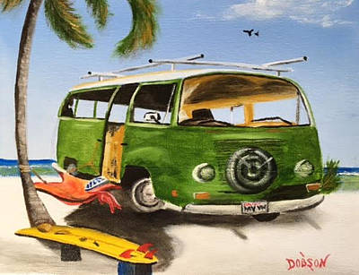 Painting - My Vw Van by Lloyd Dobson