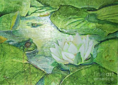 Lilly Pond Painting - My Water Lilly by Lori Moon