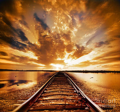 Golden Digital Art - My Way by Jacky Gerritsen