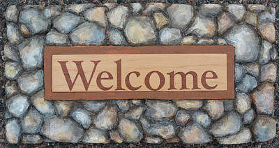 Painting - My Welcome Sign by Sheri Jo Posselt