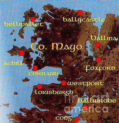Painting - Mayos...place Names by Val Byrne