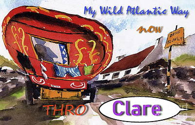 Painting - My Wild Atlantic Way....clare by Val Byrne