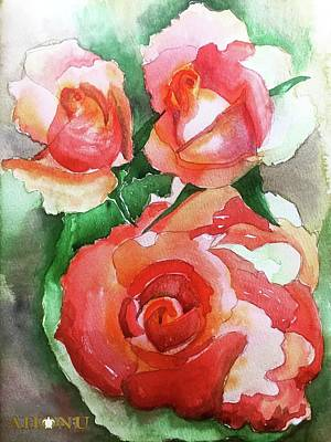 Painting - My Wild Irish Rose by Ahonu