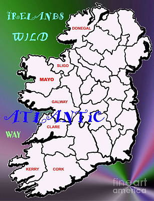 Digital Art - My Wild Atlantic Way In Ireland by Val Byrne