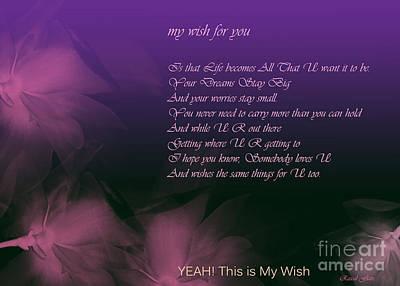 My Wish For You.. Rascal Flatts Art Print