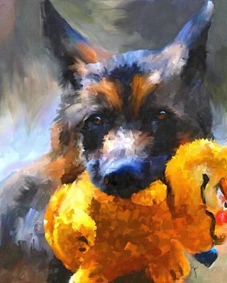 Toy Dog Painting - My Yellow Friend by Jai Johnson