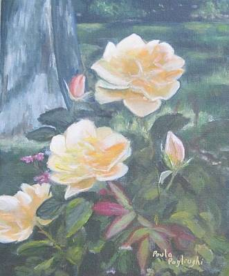 Painting - My Yellow Roses by Paula Pagliughi