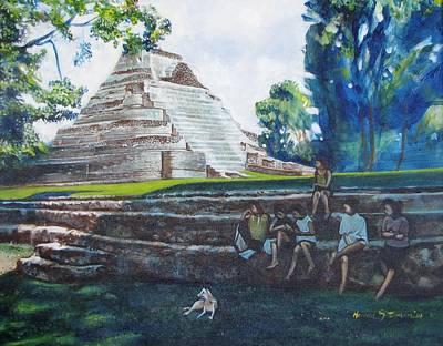 Myan Temple Art Print by Howard Stroman
