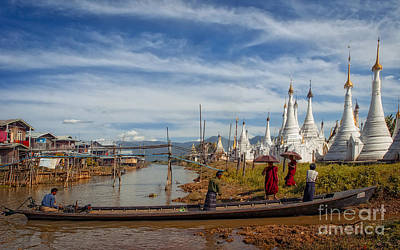 Myanmar - A Temple Complex On Inle Lake Art Print by Artur Pirant