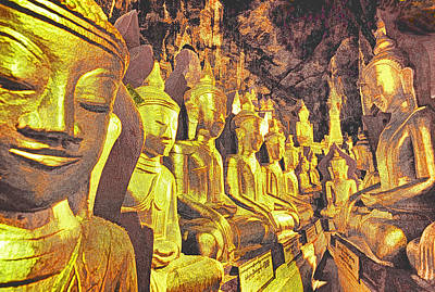 Myanmar Buddhas Art Print by Dennis Cox WorldViews