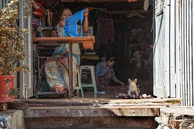 Needlewoman Pyrography - Myanmar - Sewing Workshop by Artur Pirant