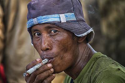 Myanmar Smoker Art Print by David Longstreath