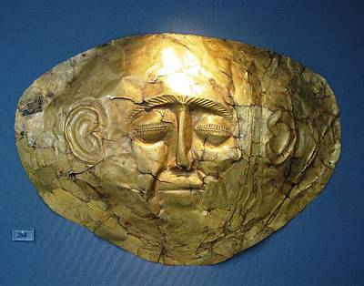 Kids Alphabet - Mycenaean gold mask by Andonis Katanos
