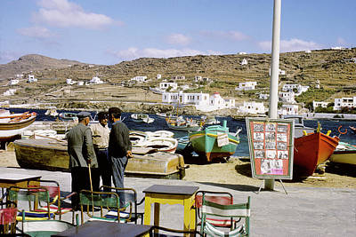 Photograph - Mykonos Waterfront by John Farley
