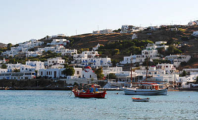 Photograph - Mykonos Fishing Boats by Robert Moss