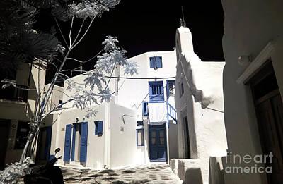 Photograph - Mykonos Home Design Infrared by John Rizzuto