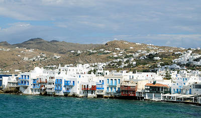 Photograph - Mykonos Littlle Venice by Haleh Mahbod