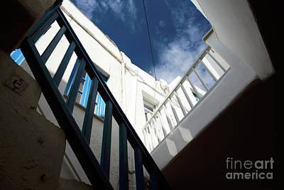 Photograph - Mykonos Town Angles by John Rizzuto