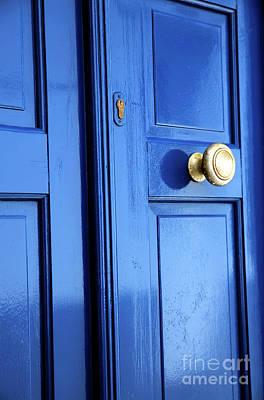 Blue Door Greece Photograph - Mykonos Town Blue Door by John Rizzuto
