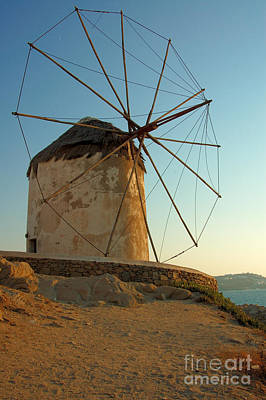 Mykonos Windmill  Art Print by Joe  Ng
