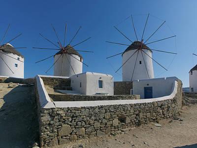 Photograph - Mykonos Windmills by S Paul Sahm