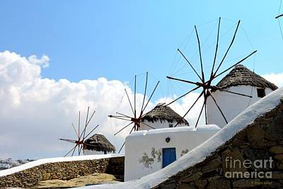 Photograph - Mykonos Windmills by Shelia Kempf