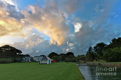 Photograph - Mylor Bridge Playing Field At Sunset by Terri Waters