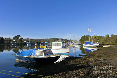 Photograph - Mylor Creek Boats by Terri Waters