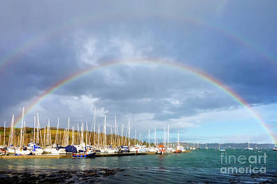Photograph - Mylor Harbour Rainbow by Terri Waters
