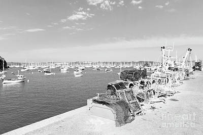 Photograph - Mylor Quay In Cornwall Monochrome by Terri Waters