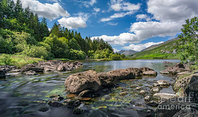 Bank Clouds Hills Photograph - Mymbyr Lakes by Adrian Evans