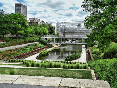 Photograph - Myriad Gardens Oklahoma City by Ann Powell