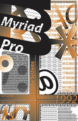 Myriad Pro Poster Original